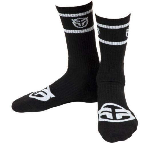 Federal Logo Socks - Black With White Logos
